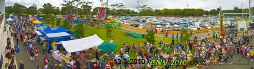 Panaromic view of ASB Showgrounds